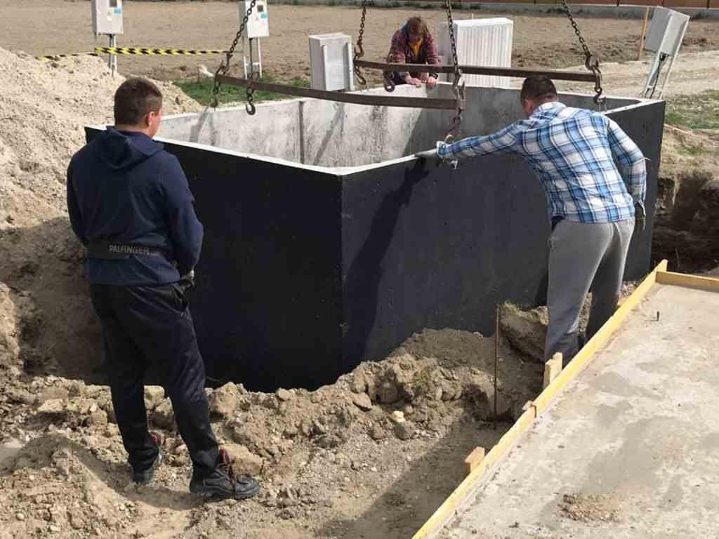 Usazeni betonove nadrze