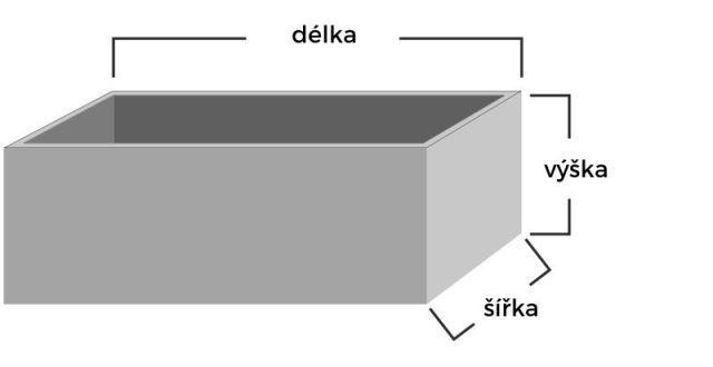 nákres betonové montážní jámy pro autoservisy