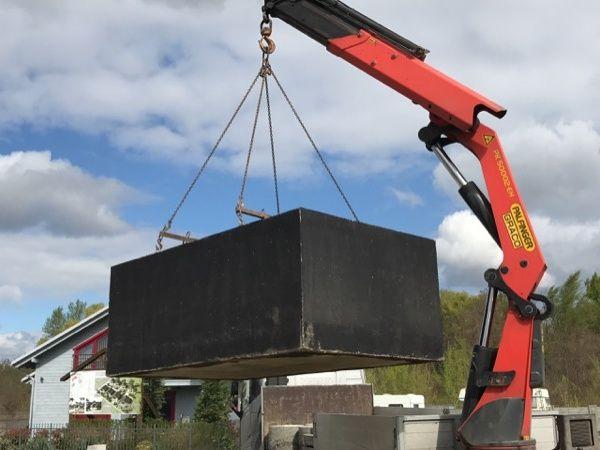 Vykládka betonové jímky